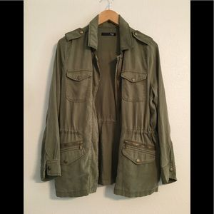 NWOT Max Jeans Military Jacket Green Full Zip Med